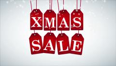 christmas sale, white background, xmas sale video animation, hd 1080 - stock footage