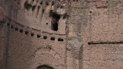 Holes Baths of Caracalla, balcony supports 4k Stock Footage