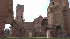 Inside Baths of Caracalla, 4k Stock Footage