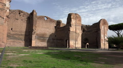 Baths of Caracalla, zoom in at end Stock Footage