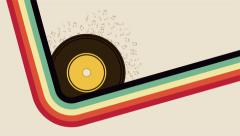 Long Play with retro colors, music animation Stock Footage