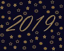 New Year Celebration Backround - stock illustration