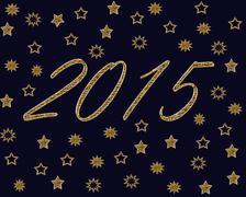 New Year Celebration Backround Stock Illustration