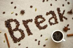 coffee break poster - stock photo