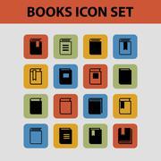 Book icons Stock Illustration