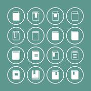 book icons - stock illustration