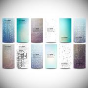 Big banners set, science backgrounds, microchip and electronics circuit Stock Illustration