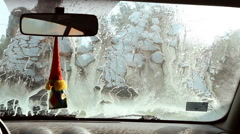 Self service car wash Stock Footage