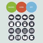 Book icons Stock Illustration