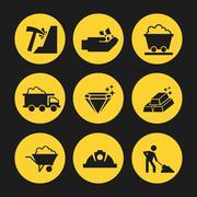 Mine icons design Stock Illustration