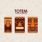 Stock Illustration of totem design