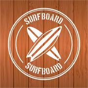 Stock Illustration of surf board Vector Illustration