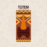 Totem Vector Illustration Stock Illustration