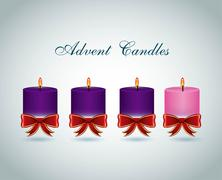 Advent candles graphic design , vector illustration Piirros