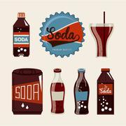 Soda graphic design , vector illustration Stock Illustration