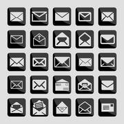 mail icons - stock illustration