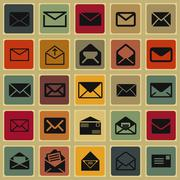 Mail icons Stock Illustration