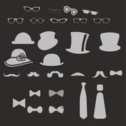 clothes icons - stock illustration