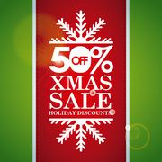 Stock Illustration of christmas design over green  background vector illustration