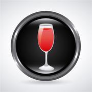 drink design over gray background vector illustration - stock illustration
