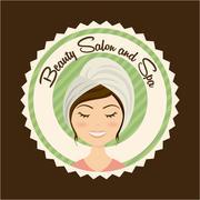 spa design over brown background vector illustration - stock illustration