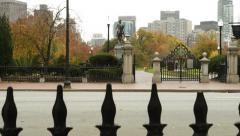 Boston Crane Up Public Park Stock Footage