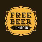 beer design over  black background vector illustration - stock illustration