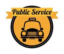 Stock Illustration of public service over white background vector illustration