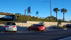 Parking lot along Highway 7 in South Carolina Stock Footage