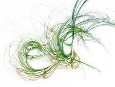 swirly fractal - stock illustration