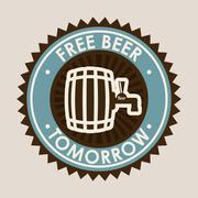 beer design over gray background vector illustration - stock illustration