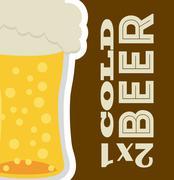 Beer design over  brown background vector illustration Stock Illustration