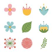 Flowers design over white background vector illustration Stock Illustration