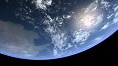 Stationary Orbit over Australia - CG Earth 1080p HD Stock Footage