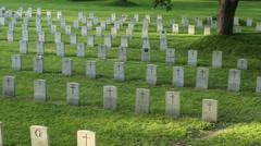 Veterans Cemetery First & Second World War, Korean War Stock Footage
