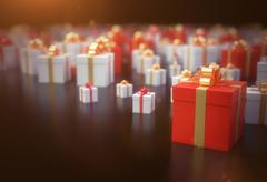 presents background - stock illustration