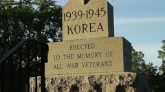 Epitaph at Veterans Cemetery Stock Footage