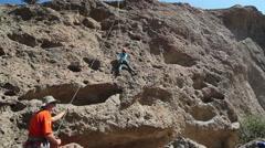 Rock Climbing Stock Footage