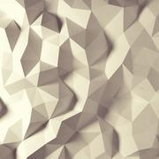 abstract vintage faceted geometric pattern - stock illustration