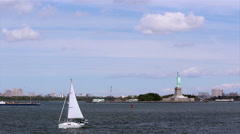 NY Manhatan and Statue of Liberty G Stock Footage