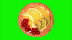 Dessert cake 03 Stock Footage