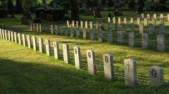 Veterans Cemetery Ontario Stock Footage