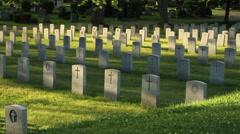 Veterans Cemetery Burlington Stock Footage