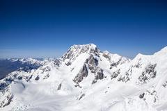 New zealand snow mountains Stock Photos