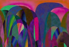 Abstract color painting by computer Stock Illustration
