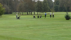 Stock Video Footage of Senior golfers playing golf