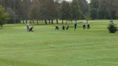 Senior golfers playing golf Stock Footage