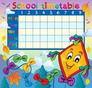 school timetable thematic image - illustration. - stock illustration