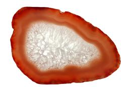 Agate geode geological crystals Stock Photos