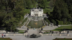 Linderhof Palace garden fountain Bavaria Germany HD 026 Stock Footage